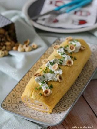 Roulé de butternut au fromage frais & jambon (2)