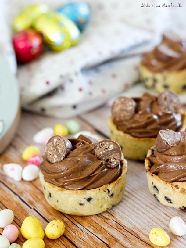 Cookies cups mousse au chocolat