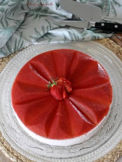 Entremets fraises & pisatche (3)