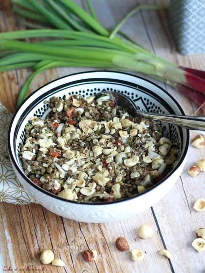 Salade de lentilles au chorizo & feta (3)