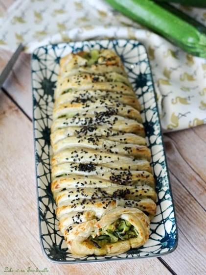 Tresse aux courgettes & saumon fumé (2)