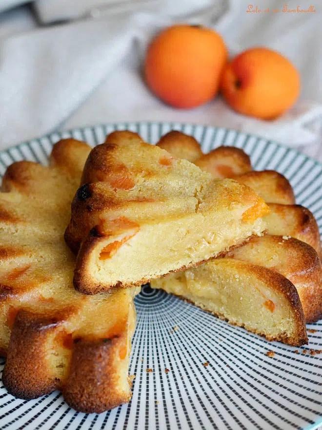 recette de gâteau, moelleux abricots