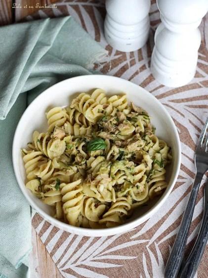 One pot pasta courgettes & thon (5)