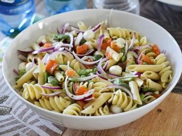Salade de pâtes aux fèves & saumon fumé (6)