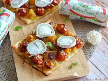 Tartelettes fines aux tomates & chèvre (7)
