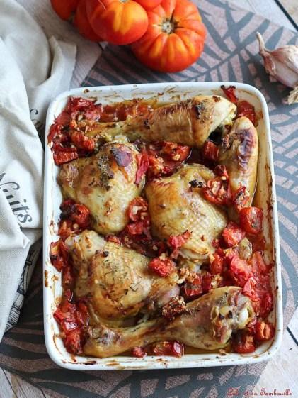Cuisses de poulet au four, tomates & thym (2)