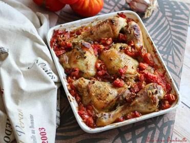 Cuisses de poulet au four, tomates & thym (3)