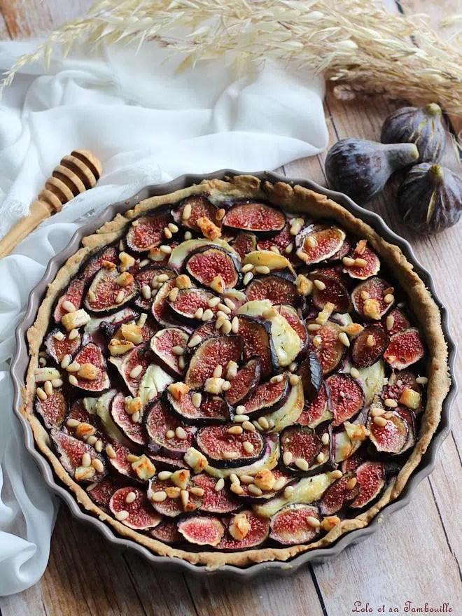 tarte figues chèvre, recette tarte aux figues et chèvre