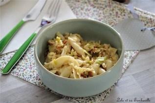 Pâtes aux poireaux & chorizo (1)
