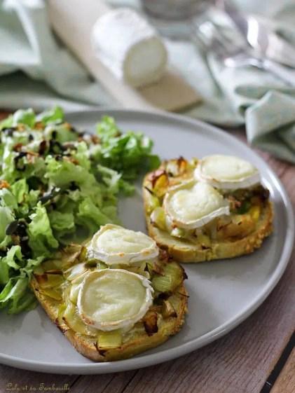 Tartines aux poireaux & chèvre (3)