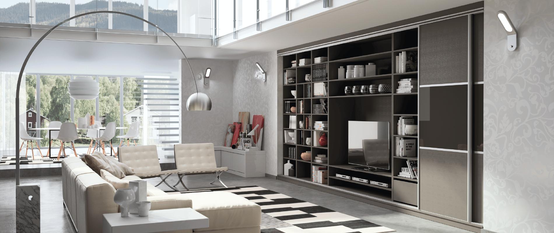 meubles de rangement sur mesure bibliotheque tv amenagement