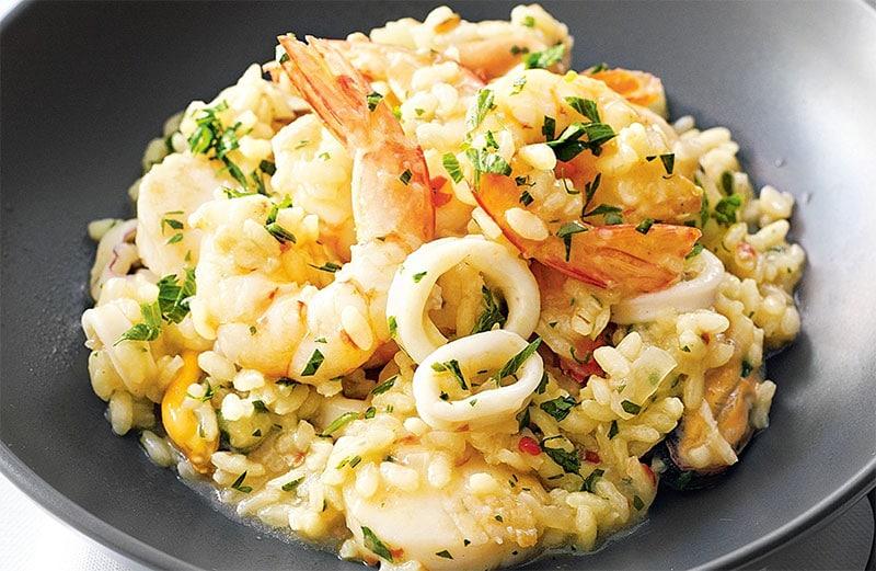 risotto aux fruits de mer avec