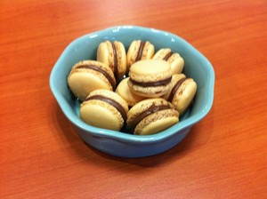 Macaron au nutella