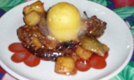 Ananas et figues rôties au miel