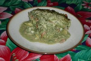 Gratin de cabillaud et saumon fumé sauce aux orties 8