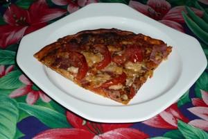 Pizza au jambon et au parmesan 7