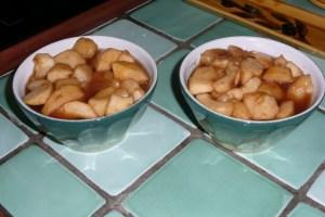 Pommes et pêches pochées aux épices 4