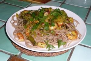 Spaghettis aux asperges et aux crevettes 3