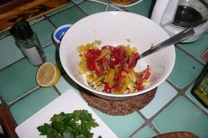 Salade tiède de pommes de terre au piment (2)