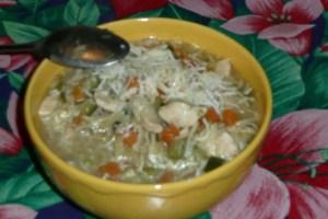 Soupe de poulet aux pâtes à potage (4)