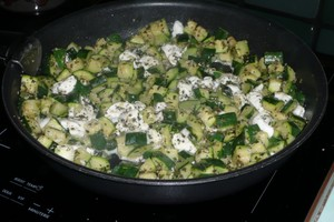 Tarte à la courgette, mozzarella, parmesan (3)
