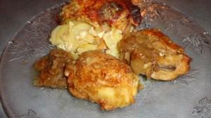poulets aux oignons