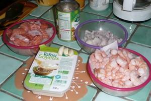 Gratin cabillaud, saumon et crevettes au tofu soyeux (1)