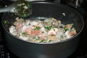 Gratin cabillaud, saumon et crevettes au tofu soyeux (2)