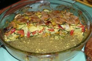 Gratin de courgettes et poivrons au tofu à l'indienne (4)