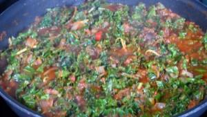 Gratin de polenta sauce tomate au chou kale (2)