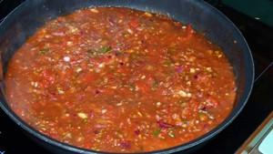 Spaghettis sauce aux poivrons (1)