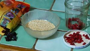 Taboulé aux baies et au quinoa