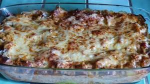 Gratin de lasagnes aux blettes sauce ratatouille (2)