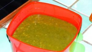 Soupe de légumes en vert