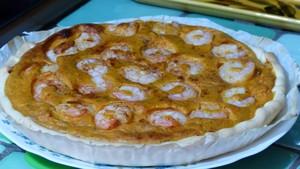 Quiche exotique à la patate douce et aux crevettes (2)
