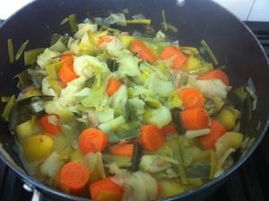 chou pommes de terre carottes