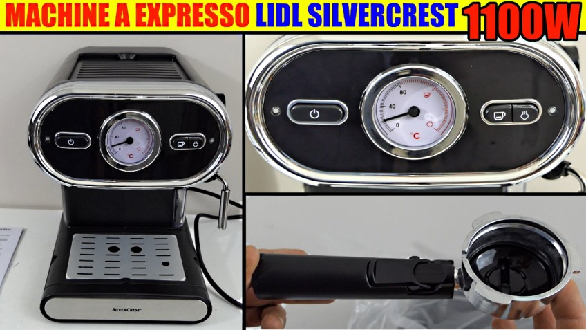 machine à expresso lidl silvercrest sem 1100w