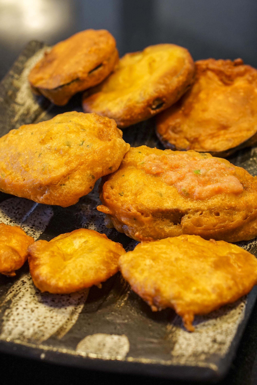 Fritters Fried Bread Bringel Cake Potato Cake Cuizine Maurice