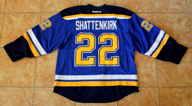 2015-16 St. Louis Blues Jersey, Set 1 Home – Kevin Shattenkirk **SOLD**