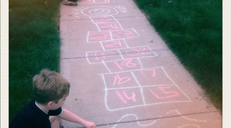 Sidewalk Chalk and Hopscotch