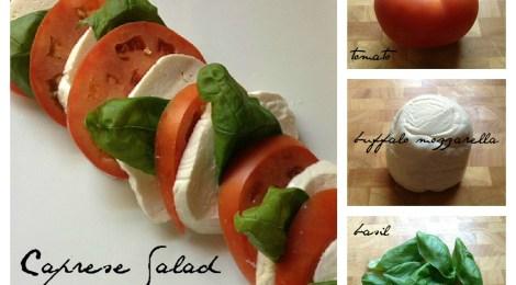 Caprese Salad--Fresh Mozzarella, Tomatoes and Basil