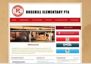 rosehill pta website screen shot