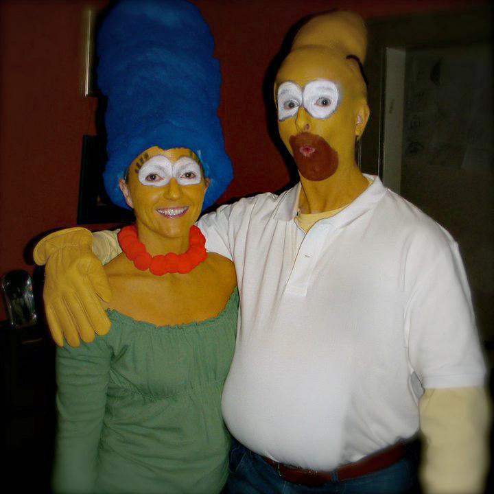p&b halloween simpsons