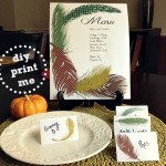 DIY Printable 'Birds of a Feather' Thanksgiving Day Place Cards & Menu