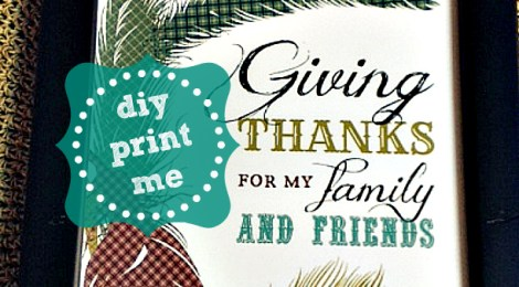 DIY Printable 'Birds of a Feather' Thanksgiving Day Door/Wall Print