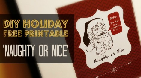 DIY Holiday FREE Printable 'Naughty or Nice' Print