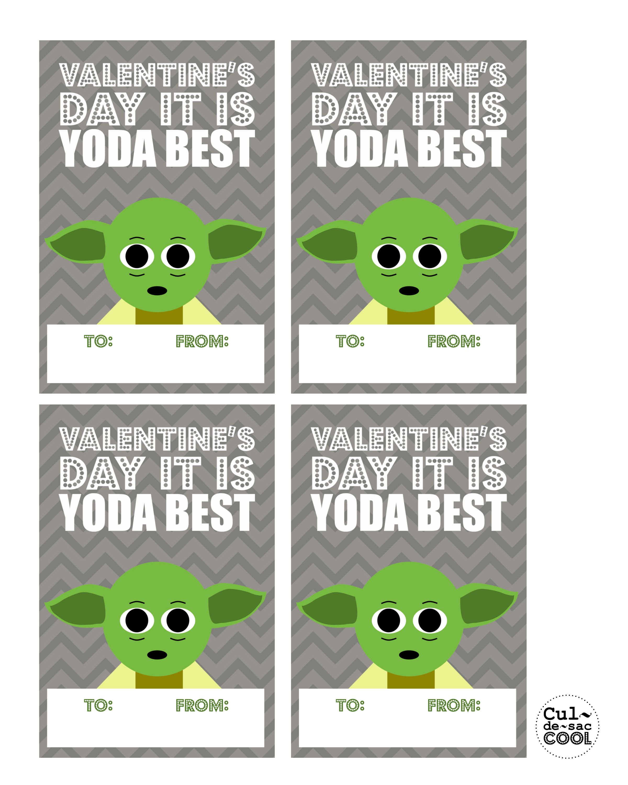 DIY PRINTABLE COOL HEART WARS VALENTINE'S DAY CARDS-'YODA ...