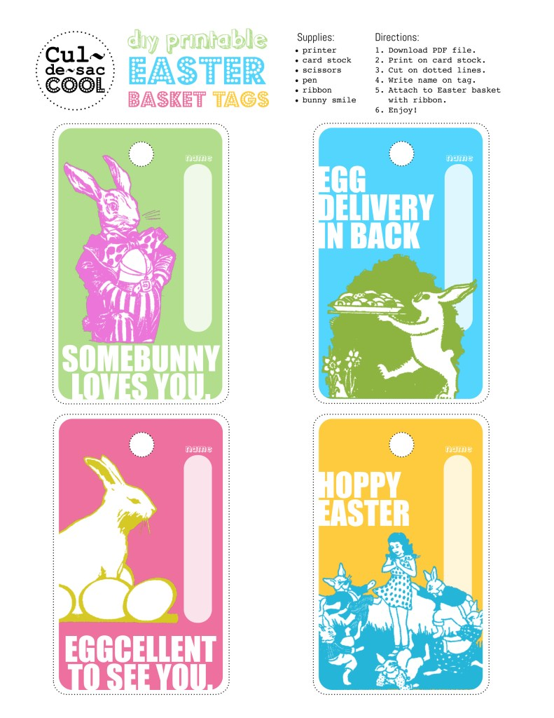 Diy printable easter basket tags negle