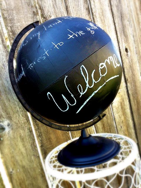 chalkboard globe
