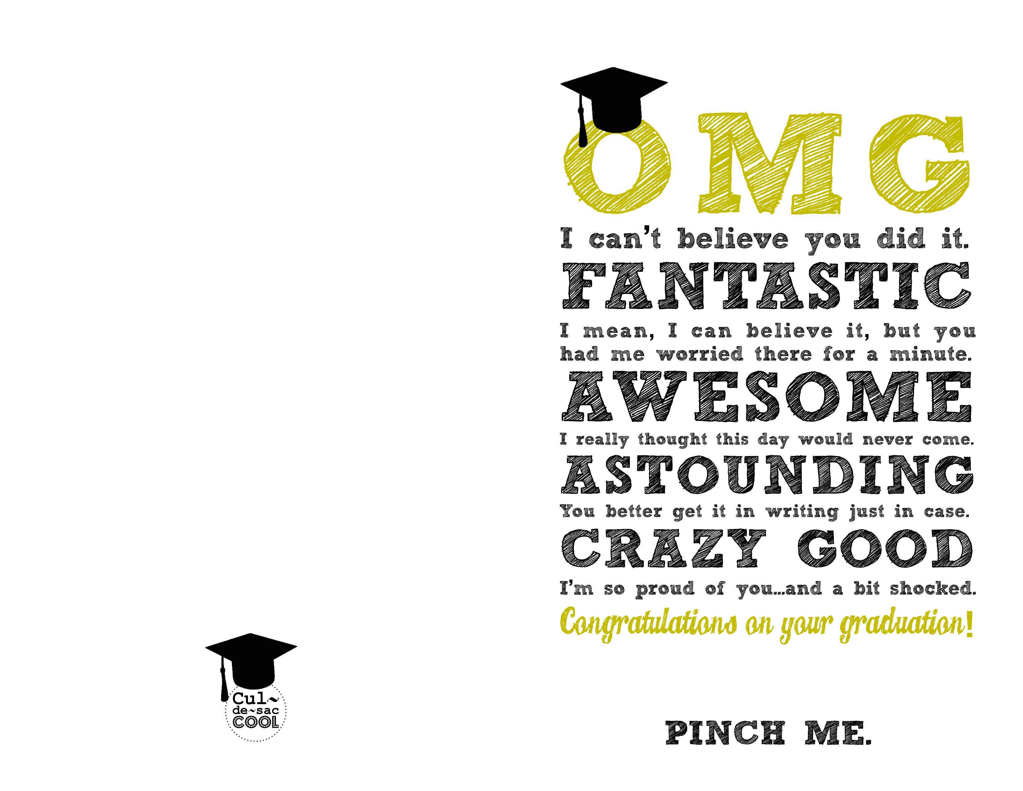image regarding Graduation Card Printable identified as Do-it-yourself Printable Commencement CardsOMG Be Astounding